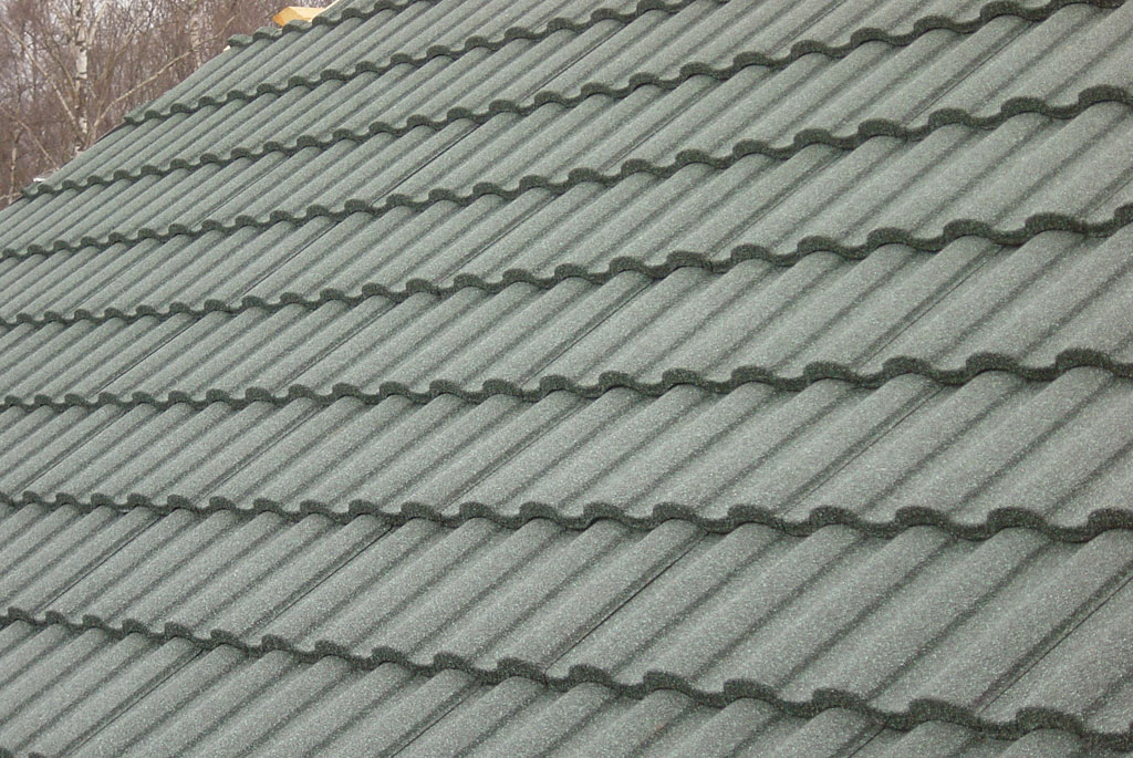 Photos of the roof with composite shingles metroroman Composite roofing tiles