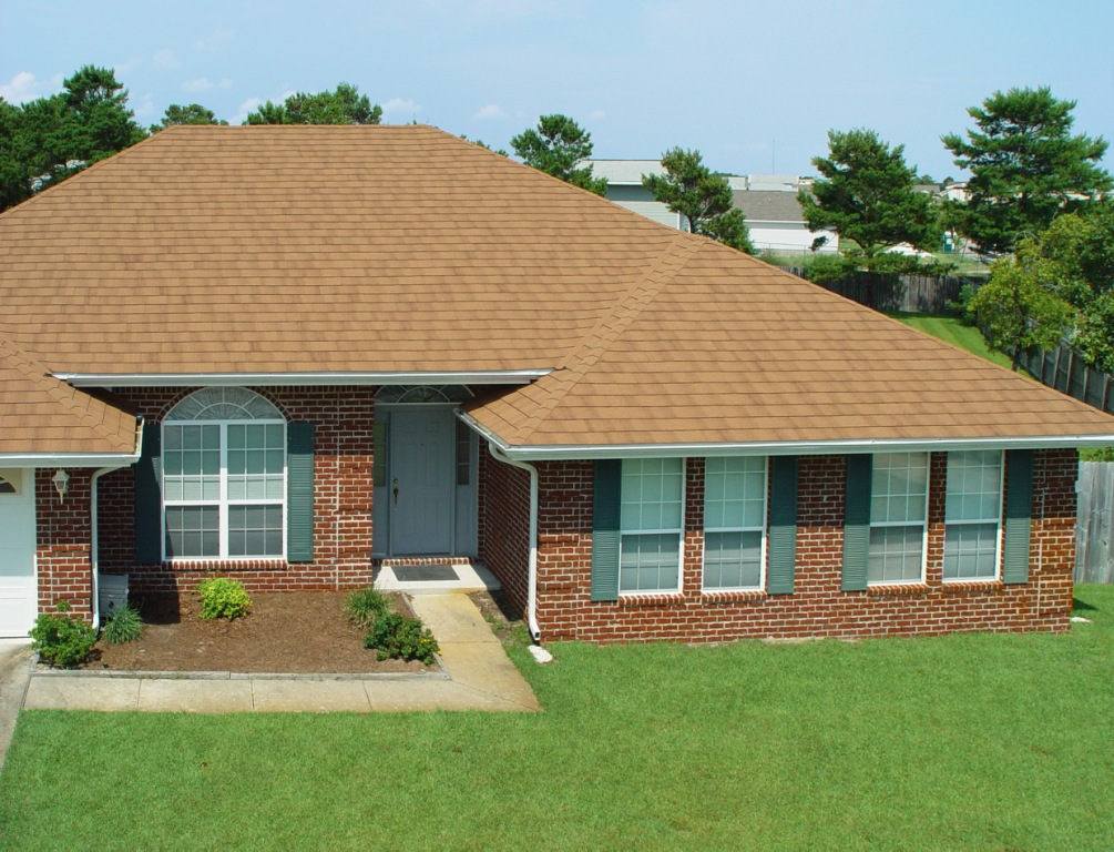 Photos of the roof with composite shingles metroshingle Composite roofing tiles