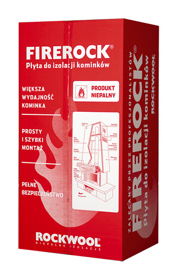 Insulation rockwool firerock for thermal insulation for Firerock fireplace cost